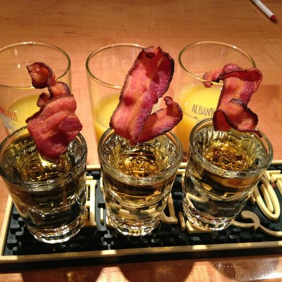 breakfast shots with bacon