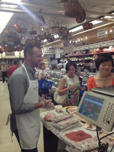 Schaller & Weber at Zabar's - Jeremy & customers