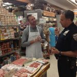 Schaller & Weber at Zabar's - Jeremy & Officer