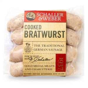 Cooked Bratwurst - Retail Pack