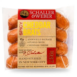 Spicy Cheddar Brats - Retail Pack