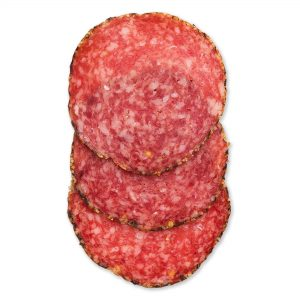 Uncured Peppercoated Salami - Out of Package