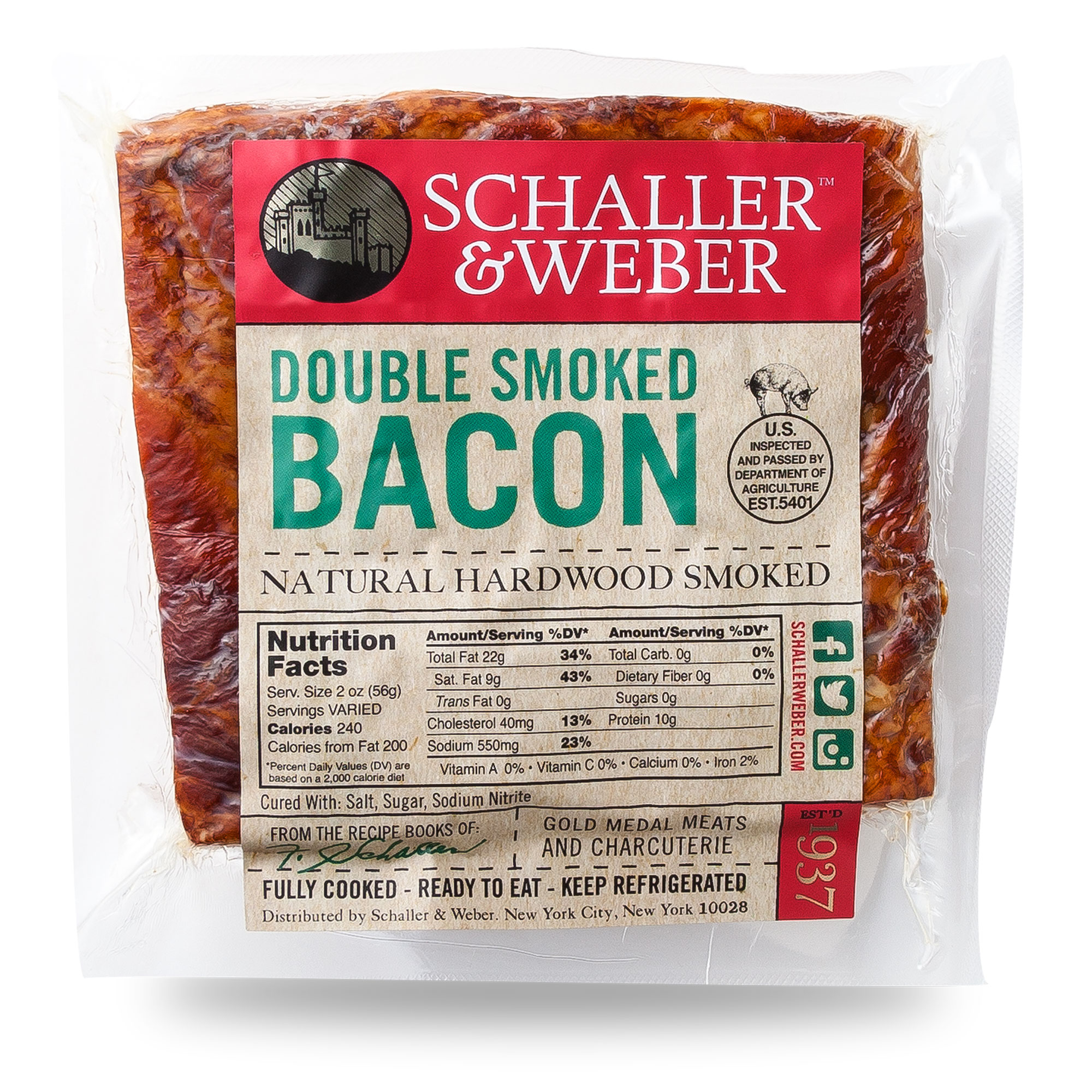 double smoked bacon - schaller & weber
