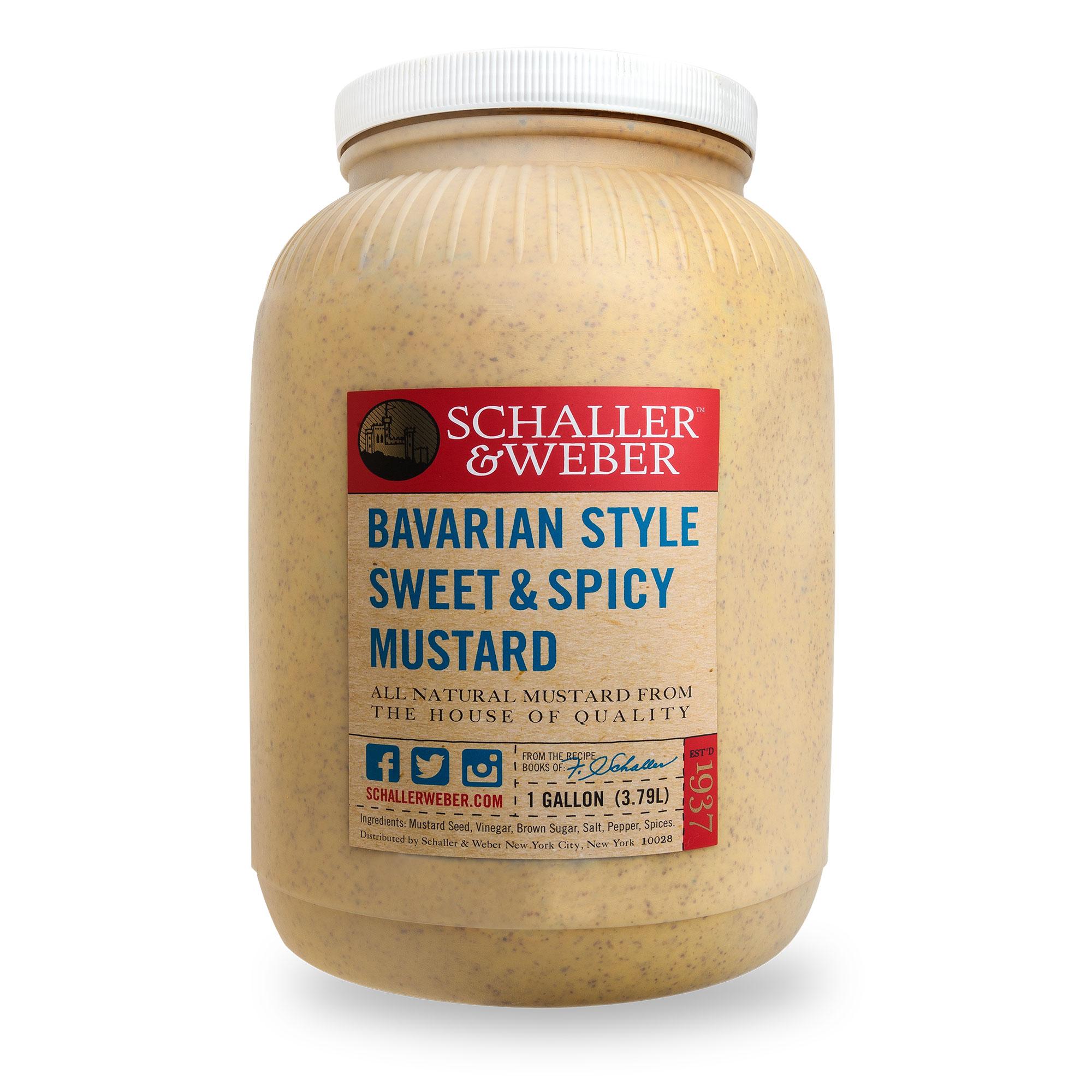 Bavarian Sweet & Spicy Mustard - Schaller & Weber